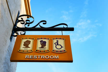 Toilet sign post Stock Photo - 22120798