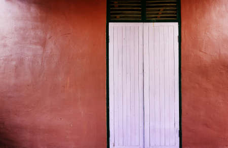 Thai traditional old door photo