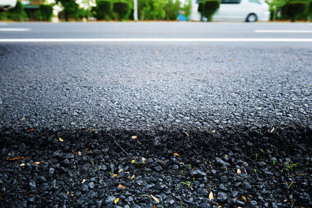 asphalting: Layer of new Asphalt