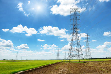 megawatts: High voltage post or High voltage tower in green field