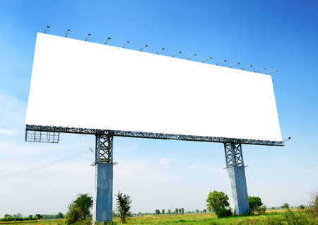 advertising space: Blank billboard ready for new advertisement Stock Photo