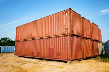 merchandize: Containers Stock Photo