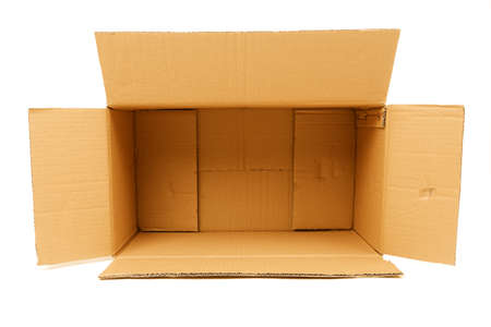 corrugate: Cardboard box ready for any idea Stock Photo