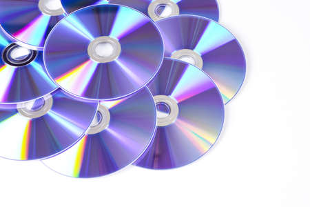 CD & DVD disk isolated on white background