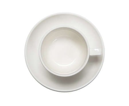 coffeecup: Empty coffee cup on white background Stock Photo