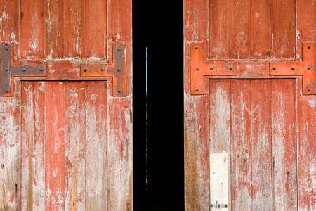 barn door: Old wooden door
