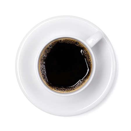 tazas de cafe: Copa del caf? aislada sobre fondo blanco