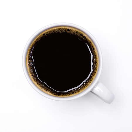 X�cara de caf� isolado no fundo branco Banco de Imagens