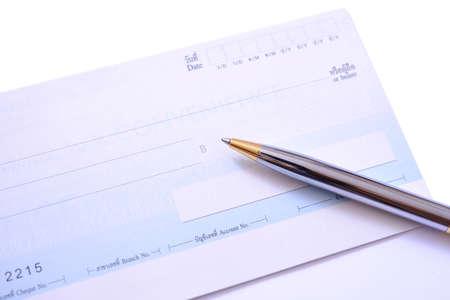 business transaction: Business transaction using a check