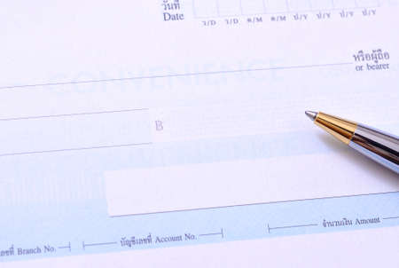 Business transaction using a check