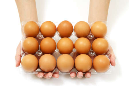 Hand hold eggs package