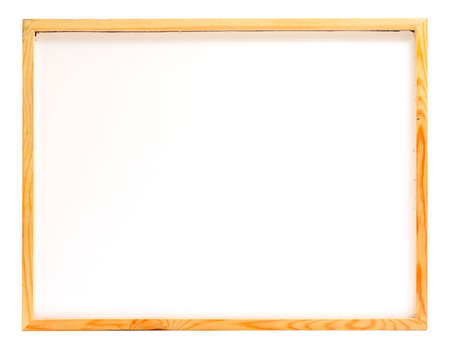 softwood: Wooden frame whiteboard isolated on white background