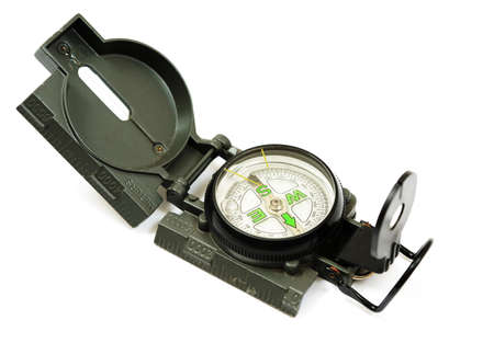 Compass isolado no fundo branco Banco de Imagens