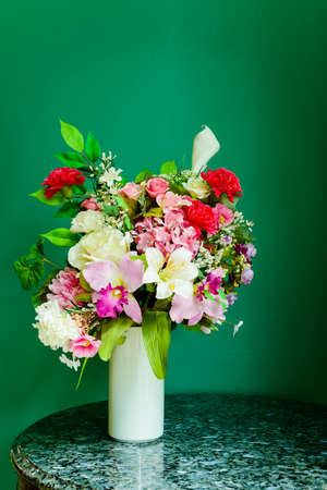 Colorful decoration artificial flower photo