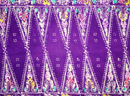 Thai silk fabric pattern background photo