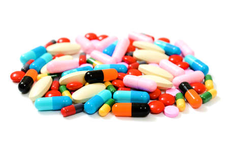 Assorted pills Stock Photo