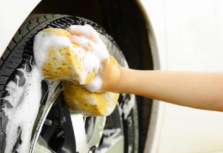 carwash: Lavar el coche Foto de archivo