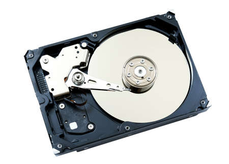 hdd: Inside view of hard disk computer