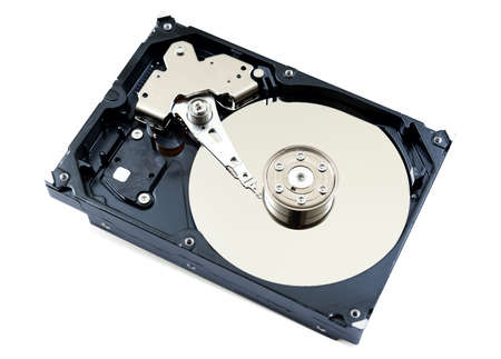 Inside view of hard disk computer