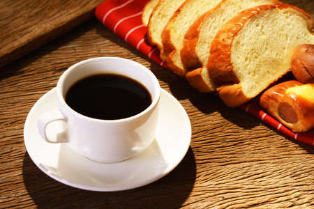 Coffee and bread Stock Photo