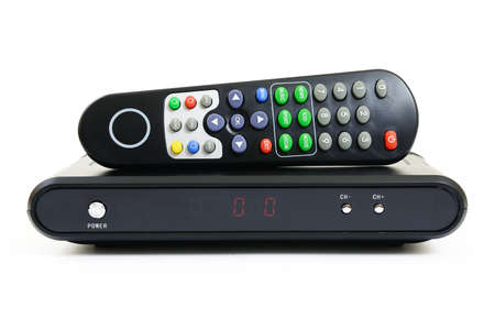 Receiver for satellite and remote control Фото со стока