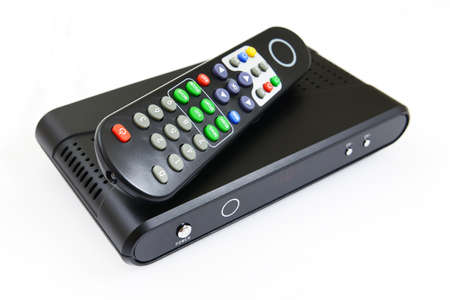 Receiver for satellite and remote control Stock Photo