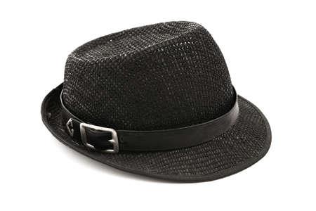 Trendy stilvolle Männer Hut isoliert auf weißem Hintergrund Standard-Bild - 22449780