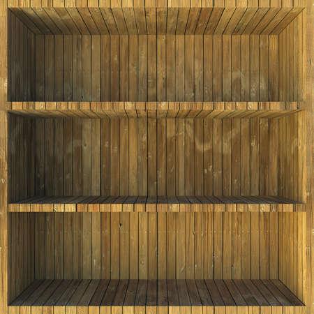 pegboard: Wooden shelves