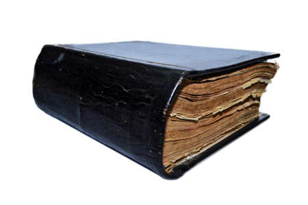 big bible: Old big book on a white background, an old bible