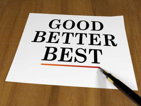 better: Good Better Best