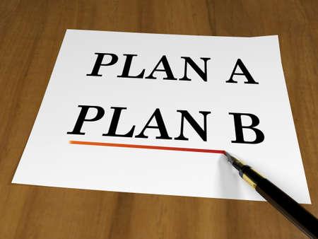 contingency: Plan B concept