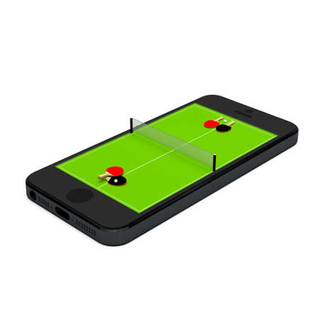 ping pong: Smart phone, mobile telephone with ping pong game