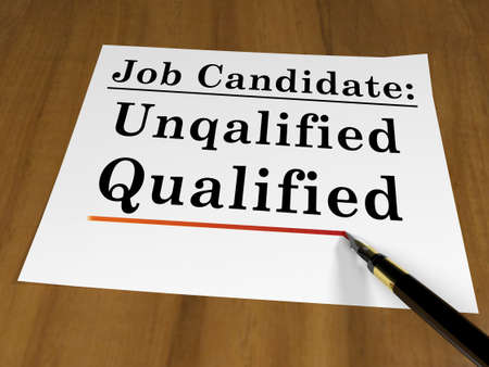 qualified: qualified candidate Stock Photo