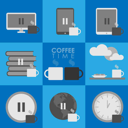 pause icon: Coffe pause icon Illustration