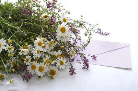 gratefulness: Letter and flowers