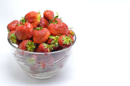 glass plate: The glass plate with strawberries