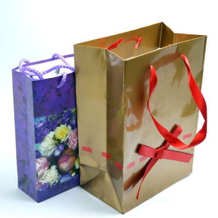 pleasantness: Gifts on a white background Stock Photo