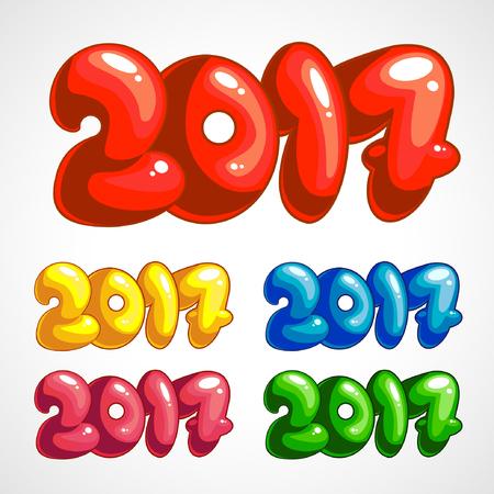 Set of cartoon titles in 2017