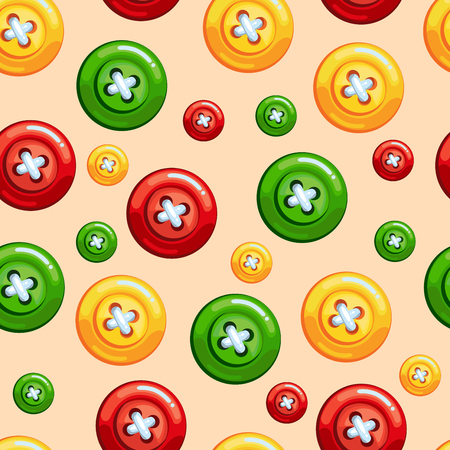 sewing buttons: Seamless texture with sewing buttons: red, yellow and green colors