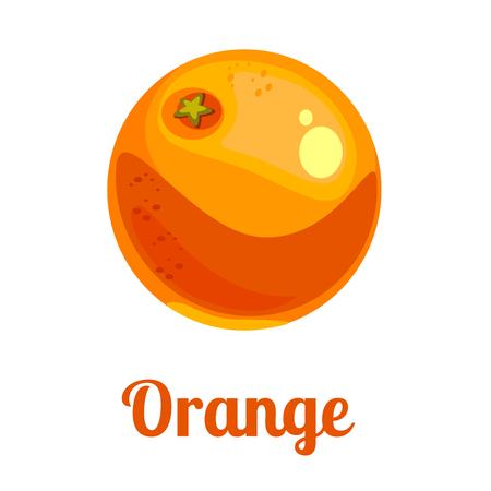 Orange Ikone im flachen Stil . Isoliertes Objekt . Rotes Logo . Vektor-Illustration auf weißem Hintergrund