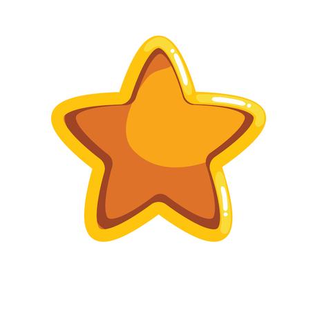 Logo with cartoon groove star. Vector illustration Illustration