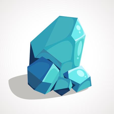 Cartoon blue crystal jewelry Ilustração