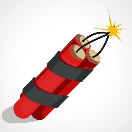 Cartoon Illustration of red dynamite vector illustration.