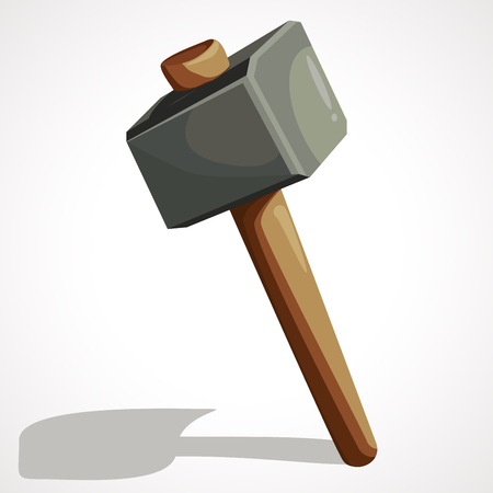 Cartoon sledgehammer tool. Sledgehammer vector stock illustration.