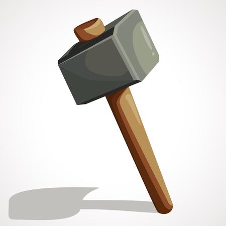 Cartoon sledgehammer tool. Sledgehammer vector stock illustration. Vectores