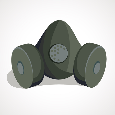 cartoon respirator, protective equipment cartoon vector illustration