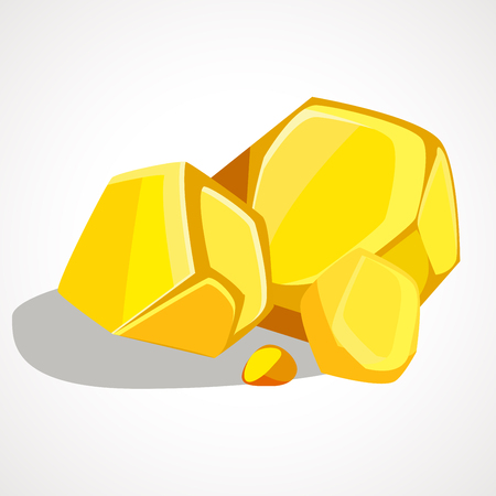 The cartoon gold stacked pile. Vector element Illustration
