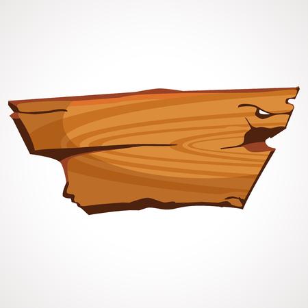 A cartoon wooden board, old wood, vector