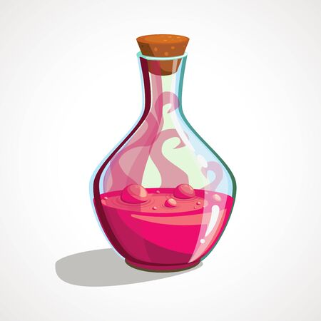 Cartoon flask with witch s potion. Ilustrace