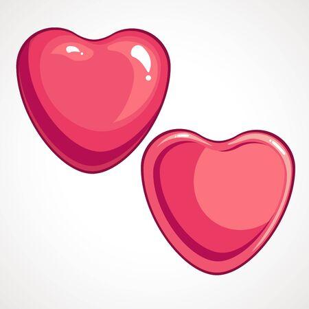 Glitter pink heart. Vector illustration